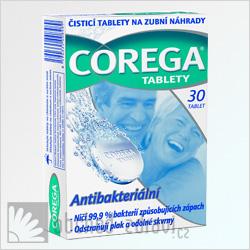Corega Čisticí tablety antibakteriální 30 tbl