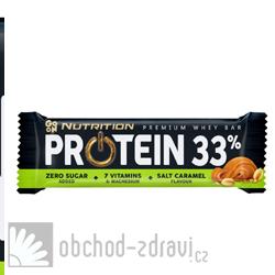GO ON Proteinová tyčinka 33% slaný karamel 50 g AKCE