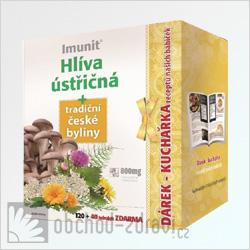 Imunit Hlíva ústřičná+tradiční české byliny 120+40 tob zdarma+kuchařka AKCE
