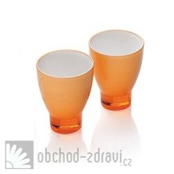 Designová sklenička oranžová 1 kus
