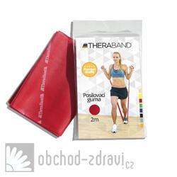 Thera-Band Posilovací guma 2m červená středně silná